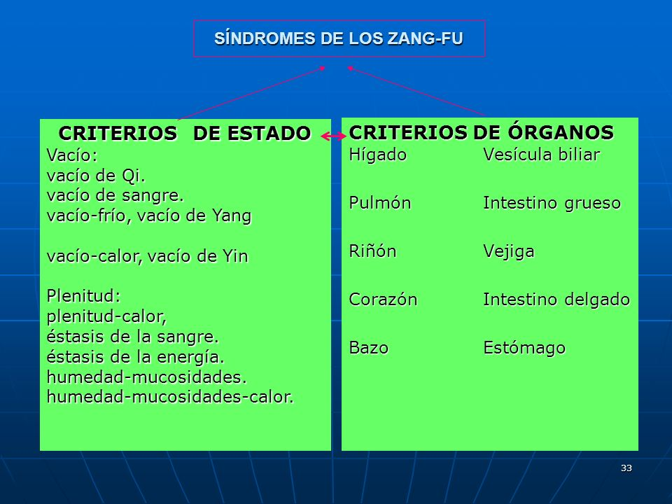 SÍNDROMES DE LOS ZANG-FU