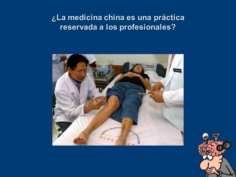 ¿La medicina china es una práctica reservada a los profesionales