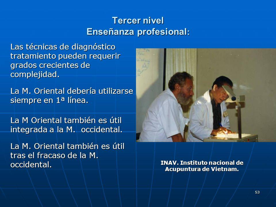 Tercer nivel Enseñanza profesional: