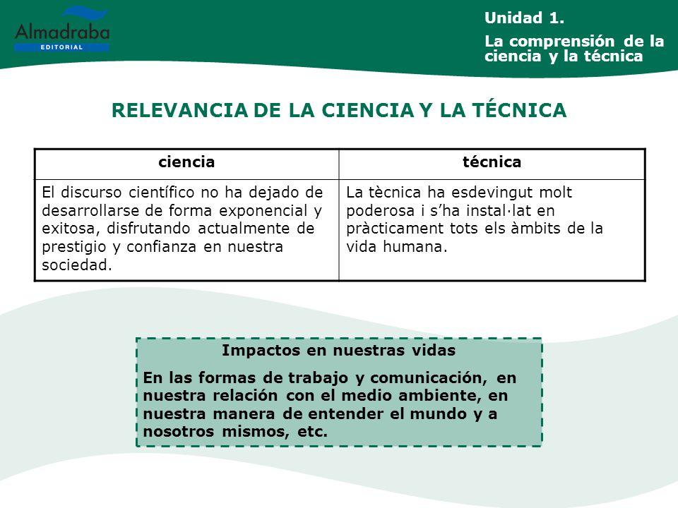 RELEVANCIA DE LA CIENCIA Y LA TÉCNICA