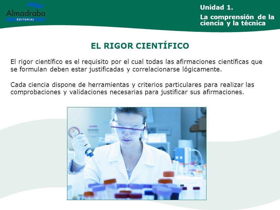 EL RIGOR CIENTÍFICO Unidad 1.