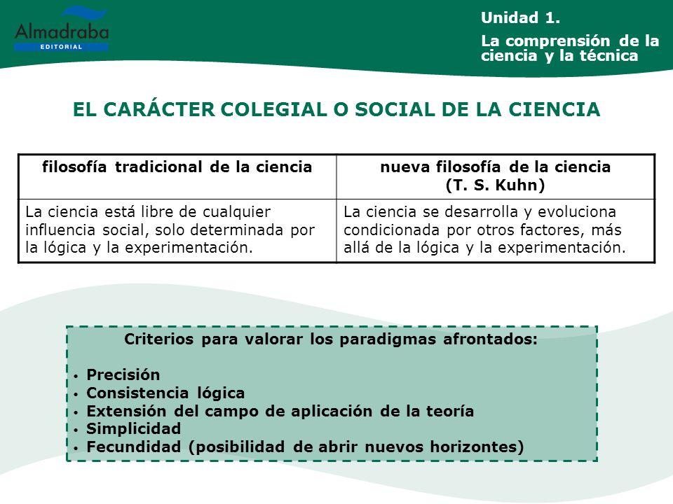 EL CARÁCTER COLEGIAL O SOCIAL DE LA CIENCIA