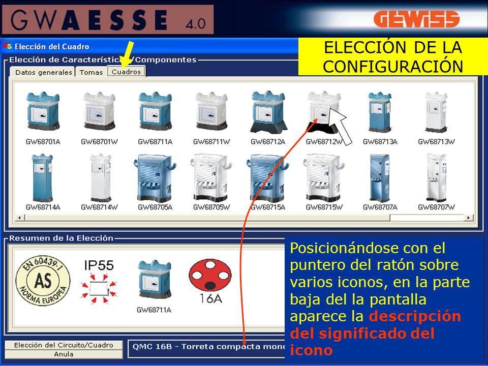 ELECCIÓN DE LA CONFIGURACIÓN