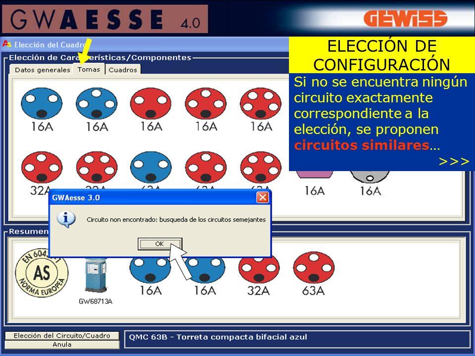 ELECCIÓN DE CONFIGURACIÓN