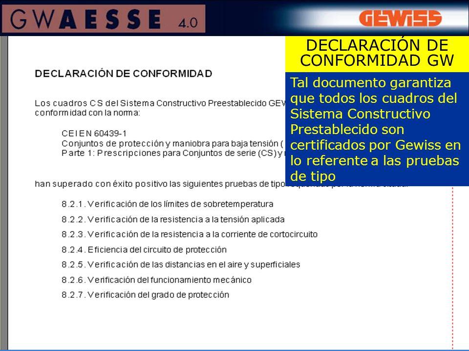 DECLARACIÓN DE CONFORMIDAD GW
