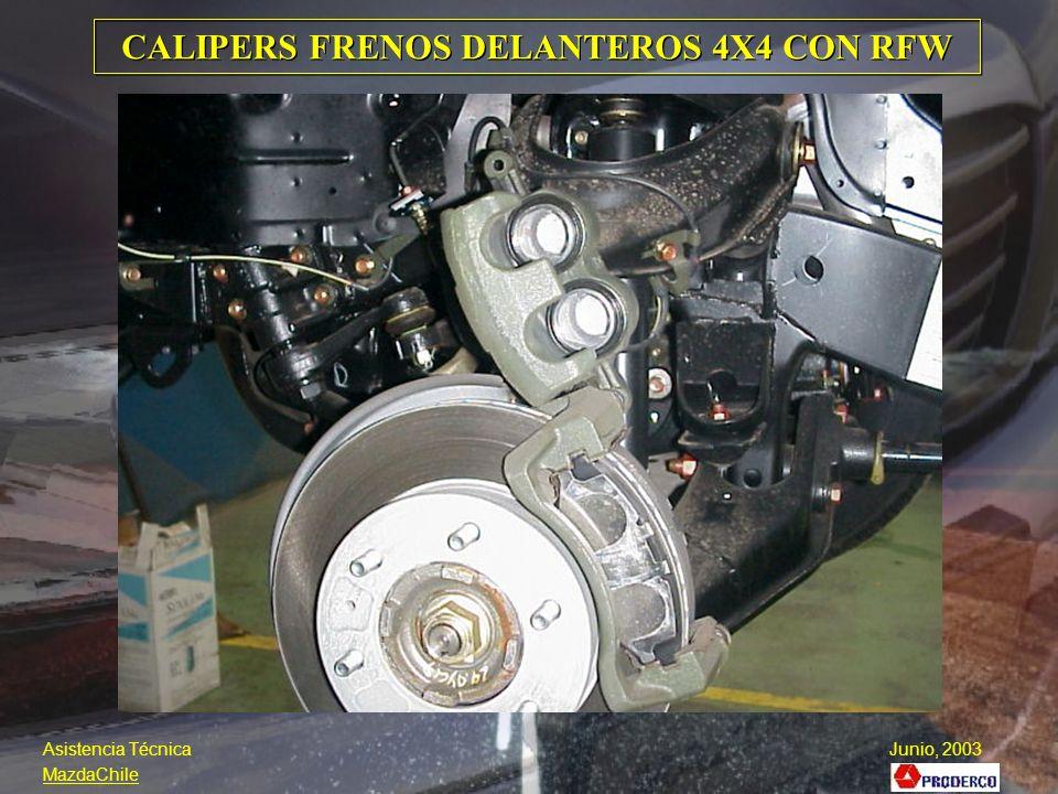 CALIPERS FRENOS DELANTEROS 4X4 CON RFW