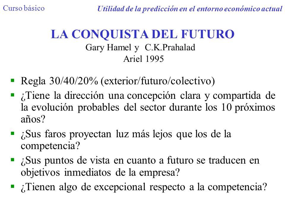 LA CONQUISTA DEL FUTURO Gary Hamel y C.K.Prahalad Ariel 1995