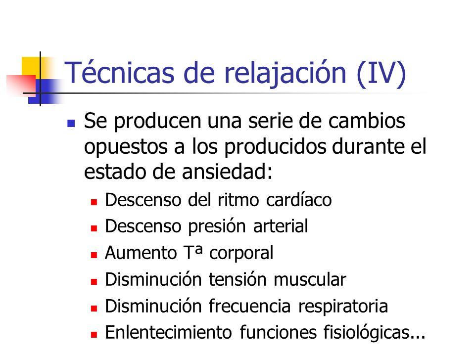 Técnicas de relajación (IV)