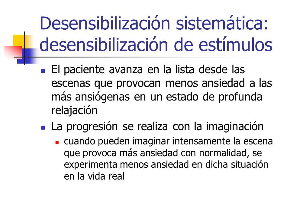 Desensibilización sistemática: desensibilización de estímulos