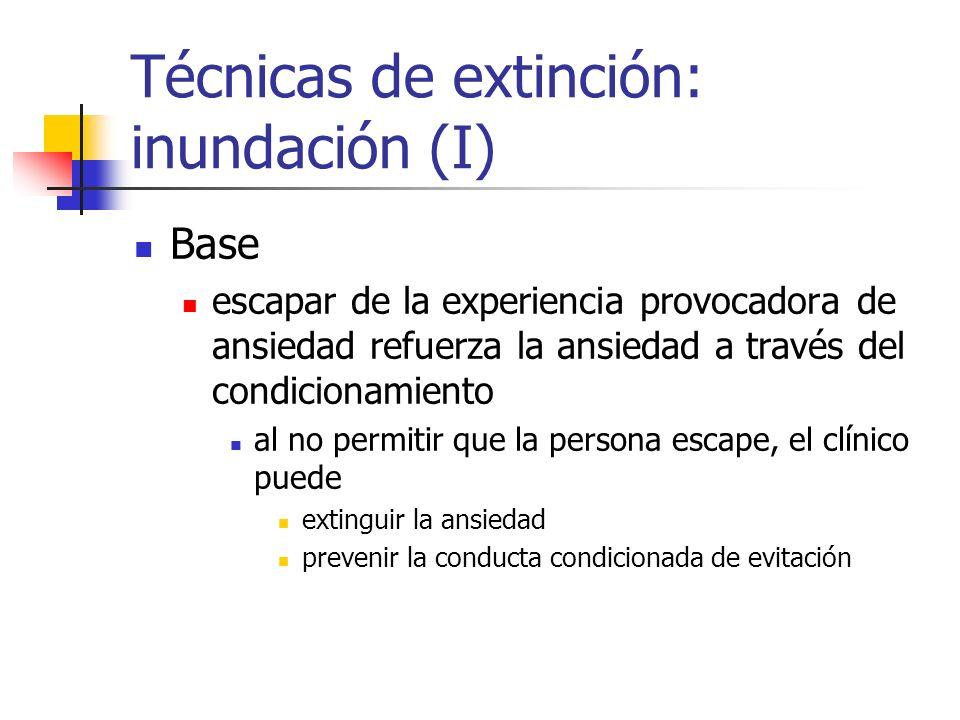 Técnicas de extinción: inundación (I)