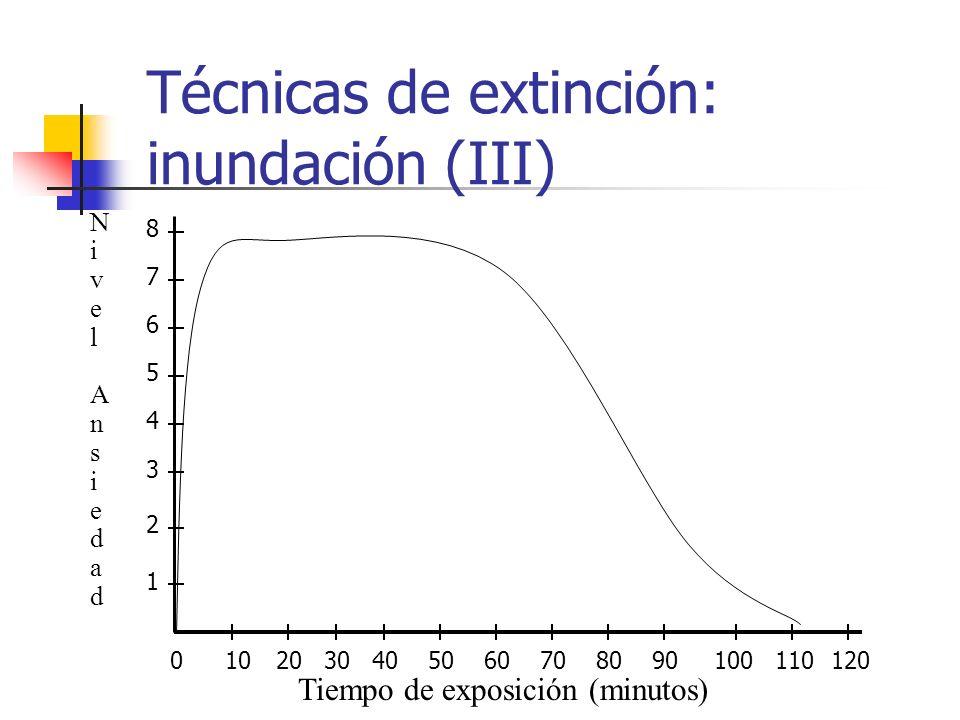 Técnicas de extinción: inundación (III)