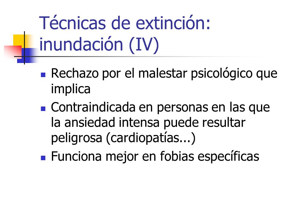 Técnicas de extinción: inundación (IV)