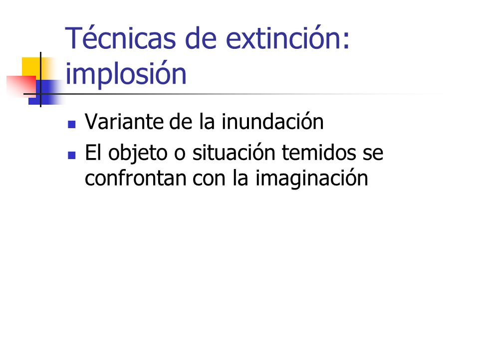 Técnicas de extinción: implosión