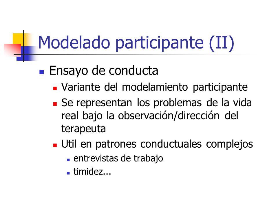 Modelado participante (II)