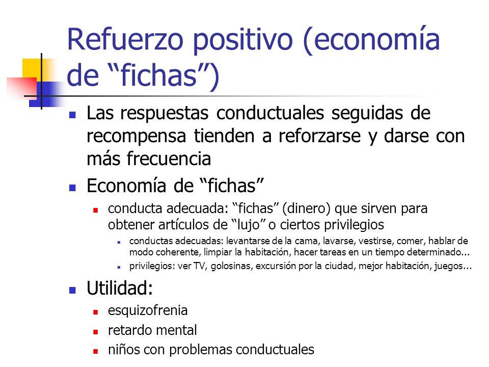 Refuerzo positivo (economía de fichas )
