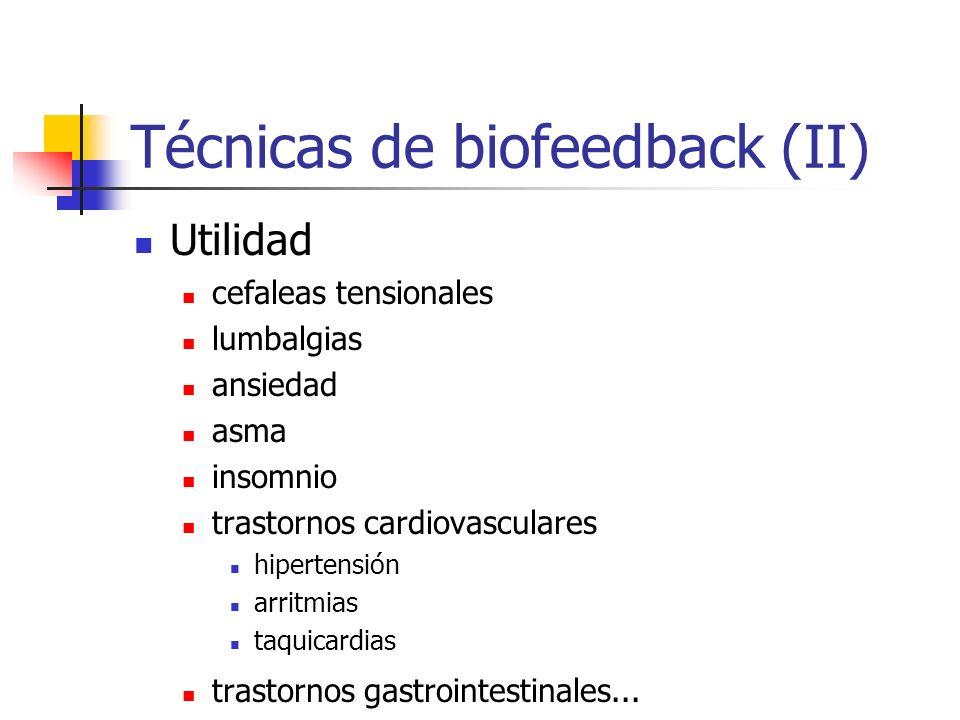 Técnicas de biofeedback (II)