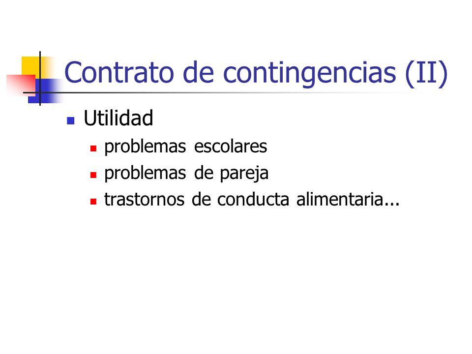 Contrato de contingencias (II)