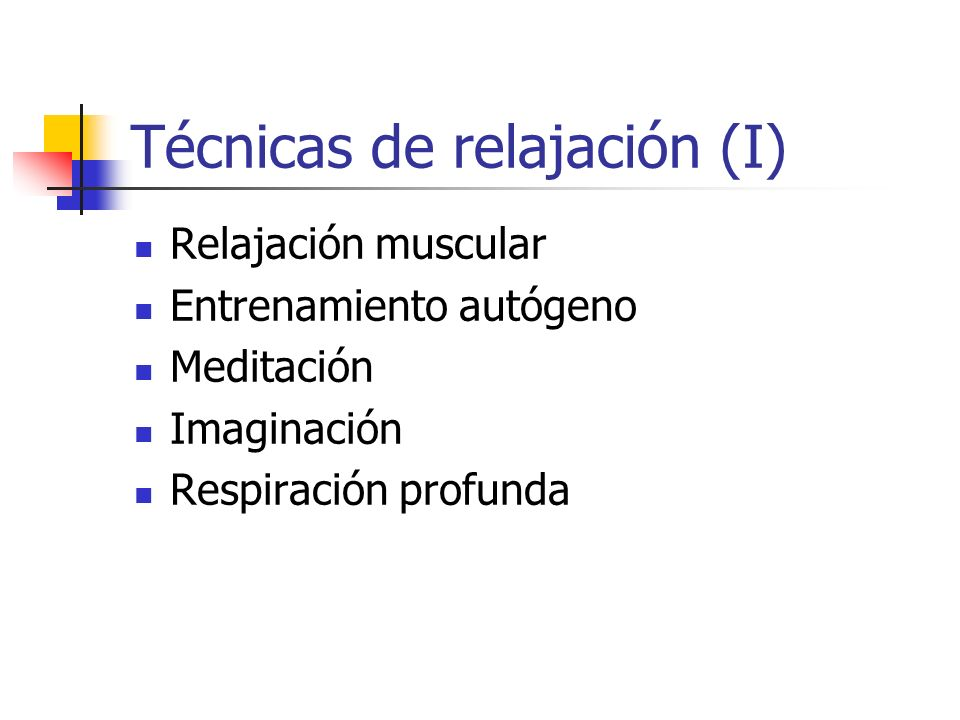 Técnicas de relajación (I)