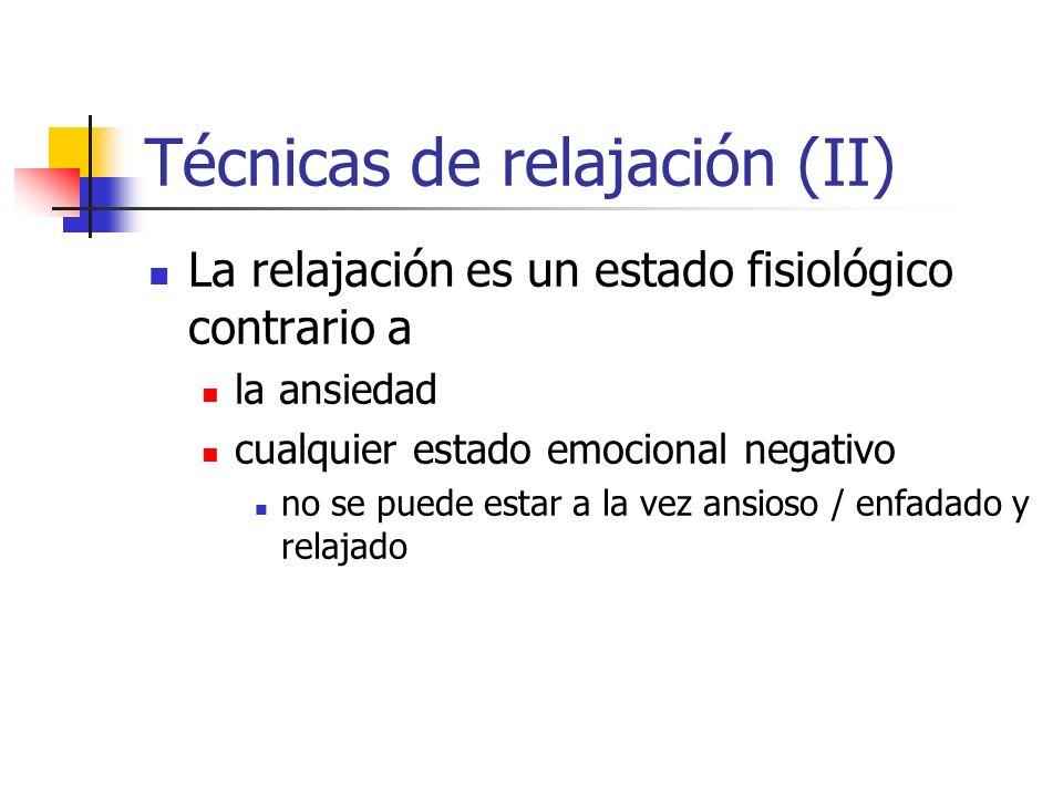 Técnicas de relajación (II)