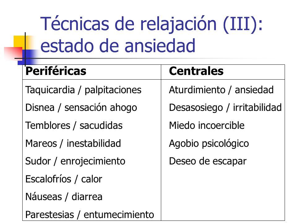 Técnicas de relajación (III): estado de ansiedad