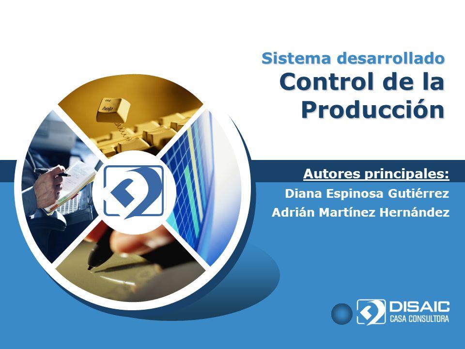 Sistema desarrollado Control de la Producción