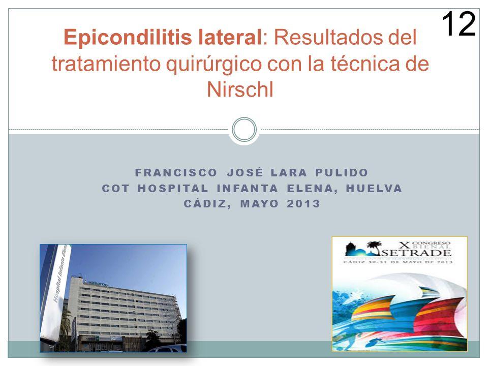 Francisco José Lara Pulido COT Hospital Infanta Elena, Huelva