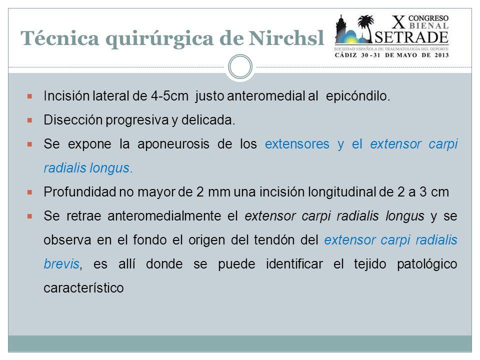 Técnica quirúrgica de Nirchsl