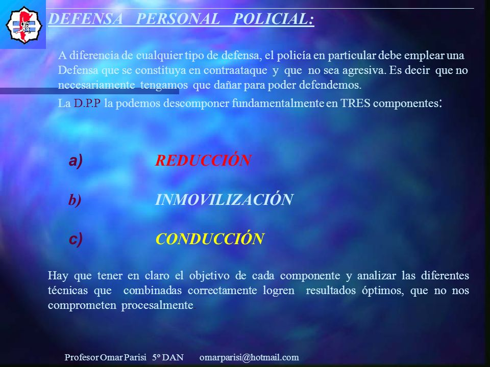 DEFENSA PERSONAL POLICIAL: