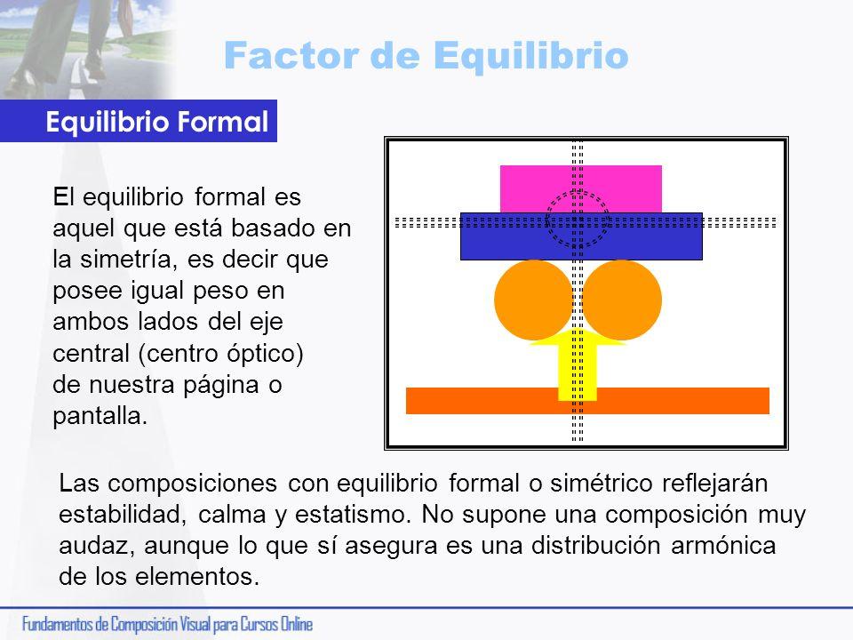 Factor de Equilibrio Equilibrio Formal