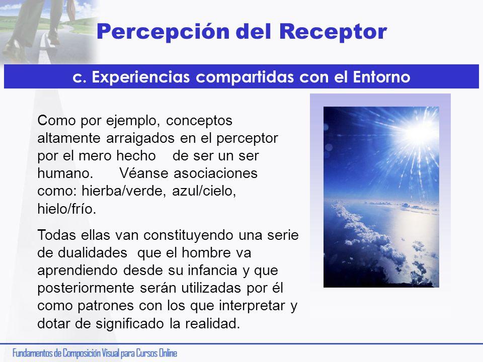 c. Experiencias compartidas con el Entorno