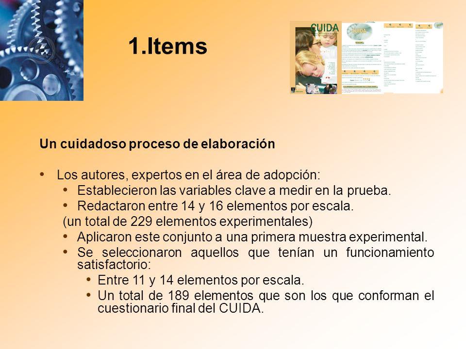 1.Items Un cuidadoso proceso de elaboración