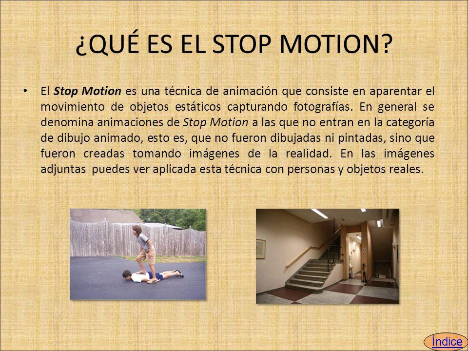 ¿QUÉ ES EL STOP MOTION