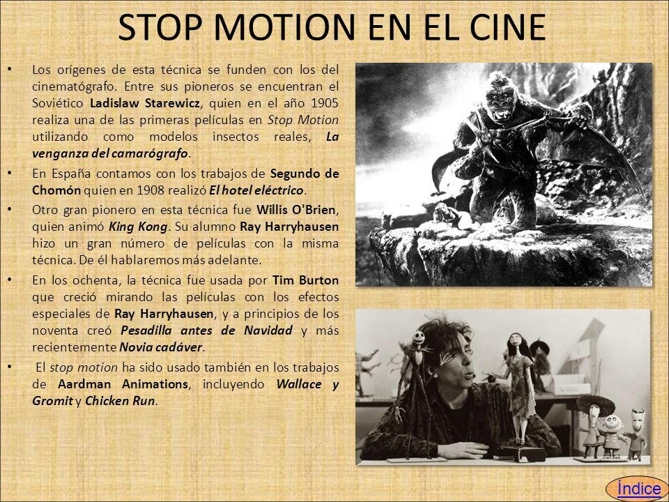 STOP MOTION EN EL CINE Índice