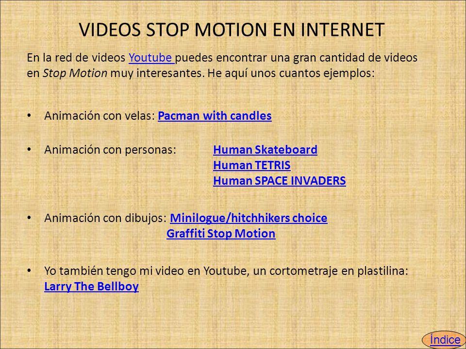 VIDEOS STOP MOTION EN INTERNET