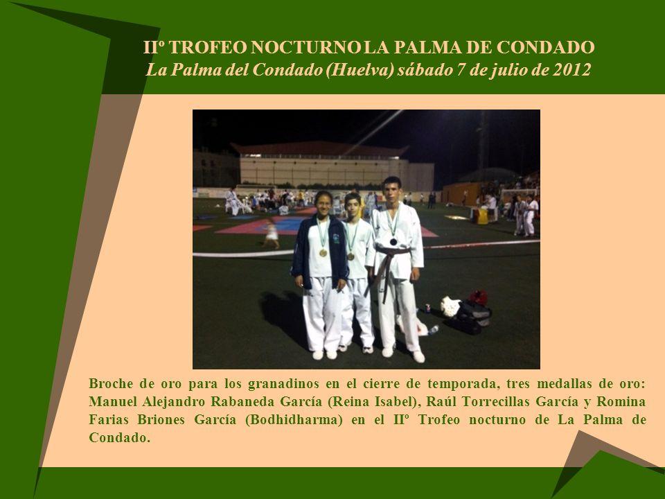 IIº Trofeo nocturno La Palma de Condado La Palma del Condado (Huelva) sábado 7 de julio de 2012