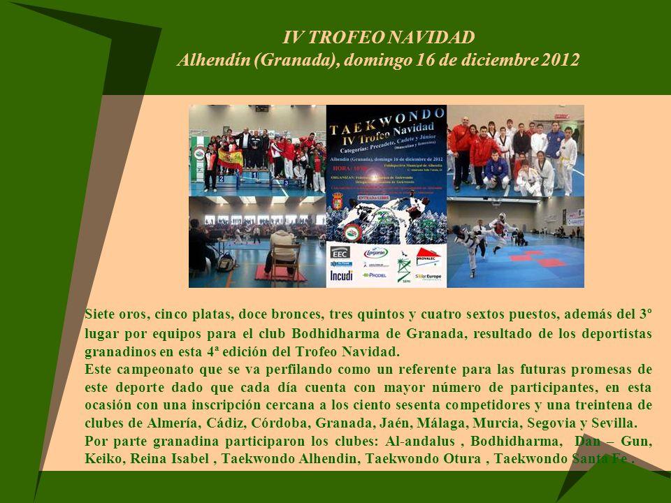 IV TROFEO NAVIDAD Alhendín (Granada), domingo 16 de diciembre 2012