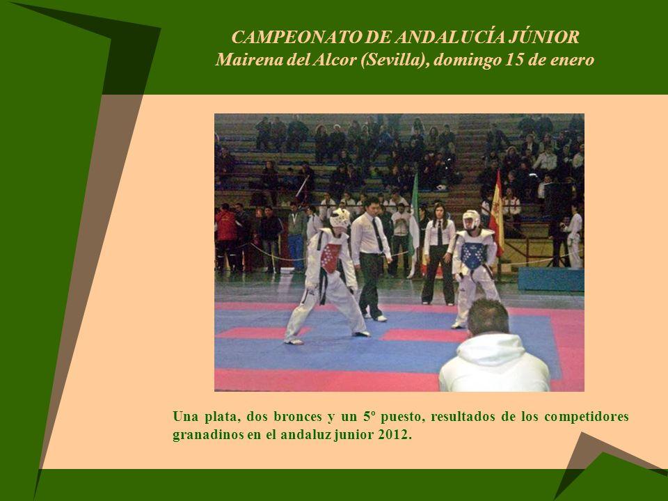 CAMPEONATO DE ANDALUCÍA JÚNIOR Mairena del Alcor (Sevilla), domingo 15 de enero