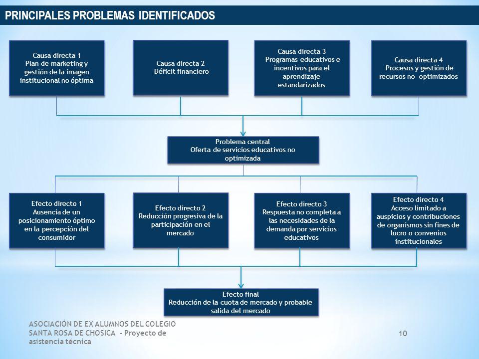 PRINCIPALES PROBLEMAS IDENTIFICADOS