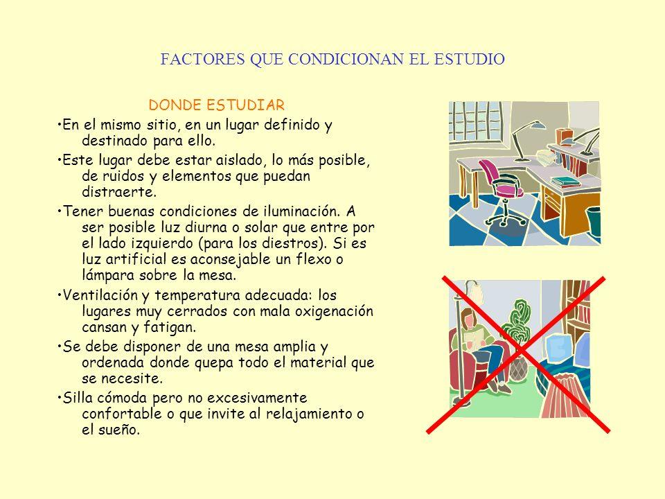 FACTORES QUE CONDICIONAN EL ESTUDIO
