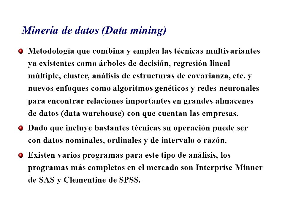 Minería de datos (Data mining)