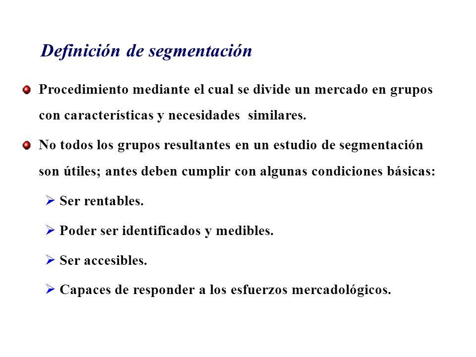 Definición de segmentación