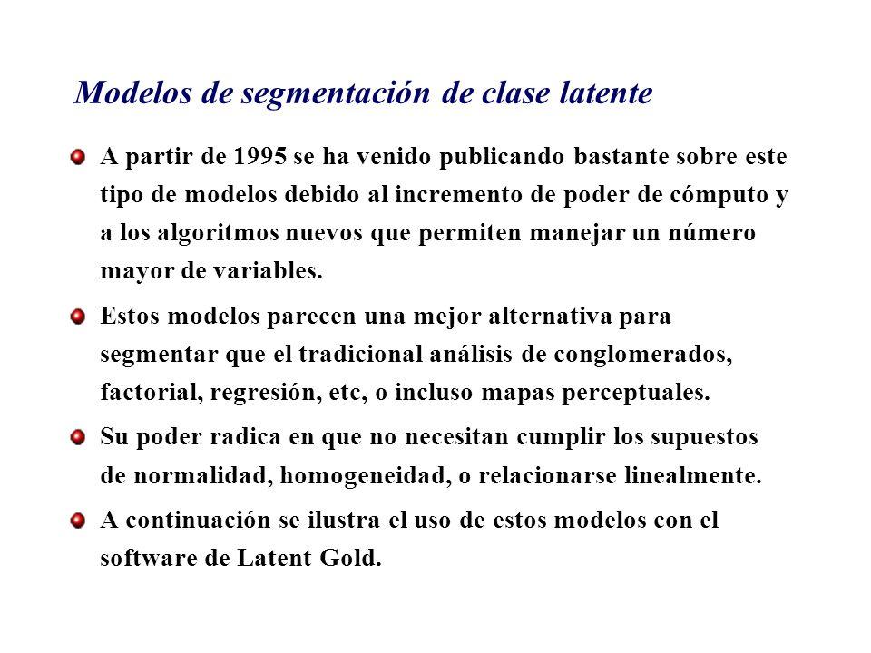 Modelos de segmentación de clase latente