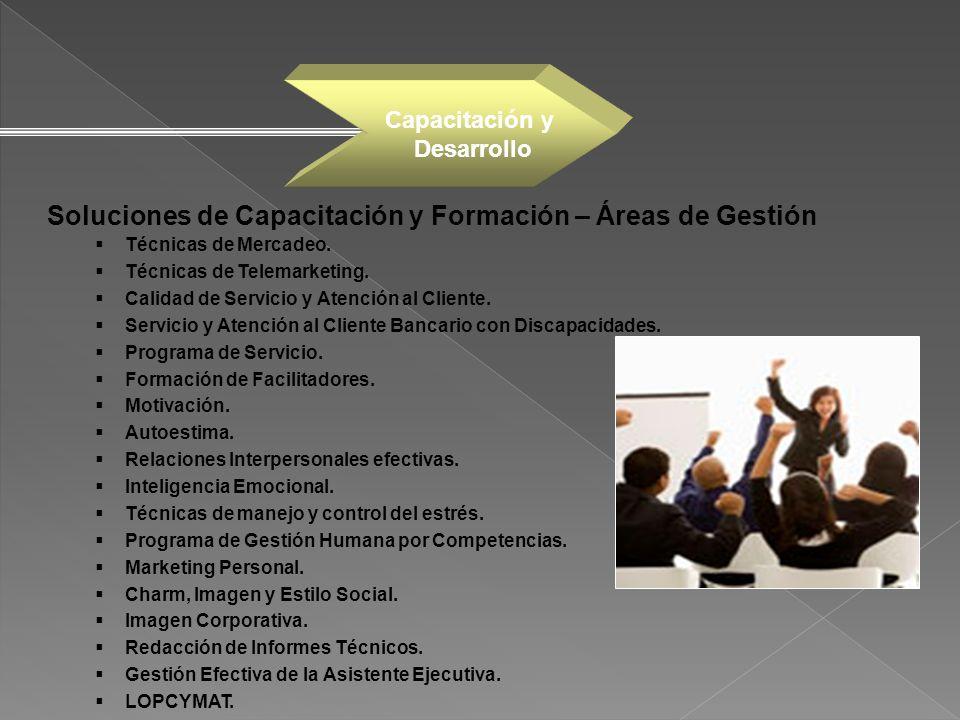 Soluciones de Capacitación y Formación – Áreas de Gestión