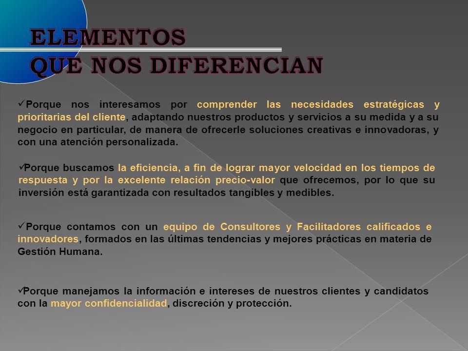 ELEMENTOS QUE NOS DIFERENCIAN