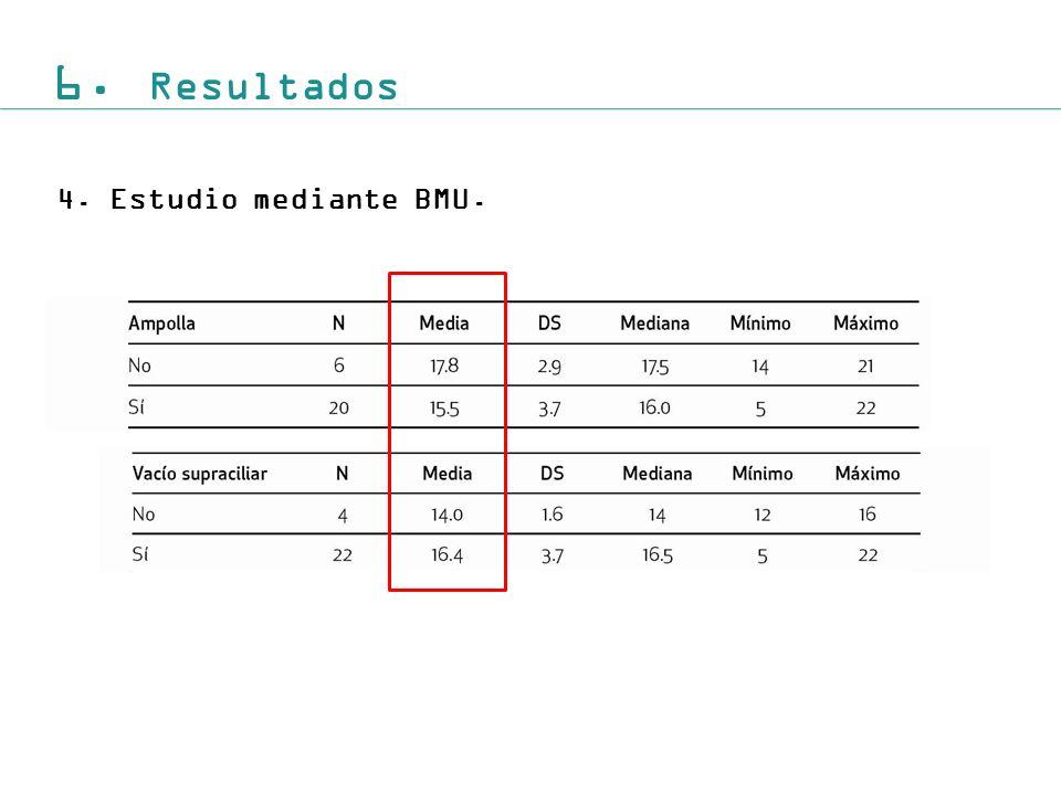 6. Resultados Estudio mediante BMU.