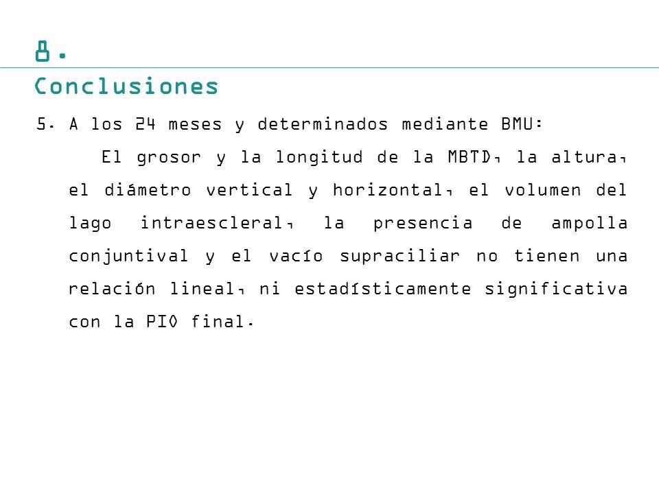 8. Conclusiones A los 24 meses y determinados mediante BMU: