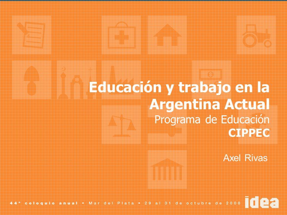 Educación y trabajo en la Argentina Actual
