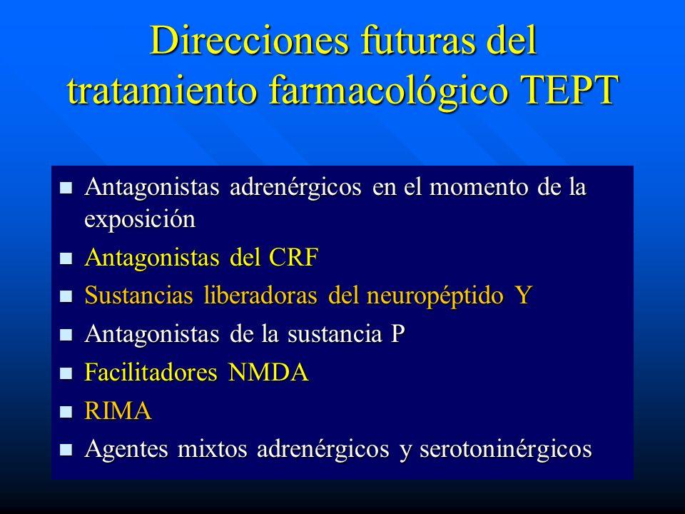 Direcciones futuras del tratamiento farmacológico TEPT