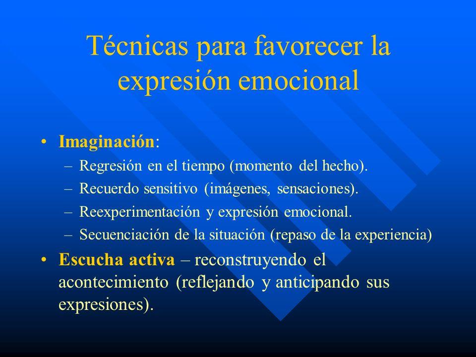 Técnicas para favorecer la expresión emocional