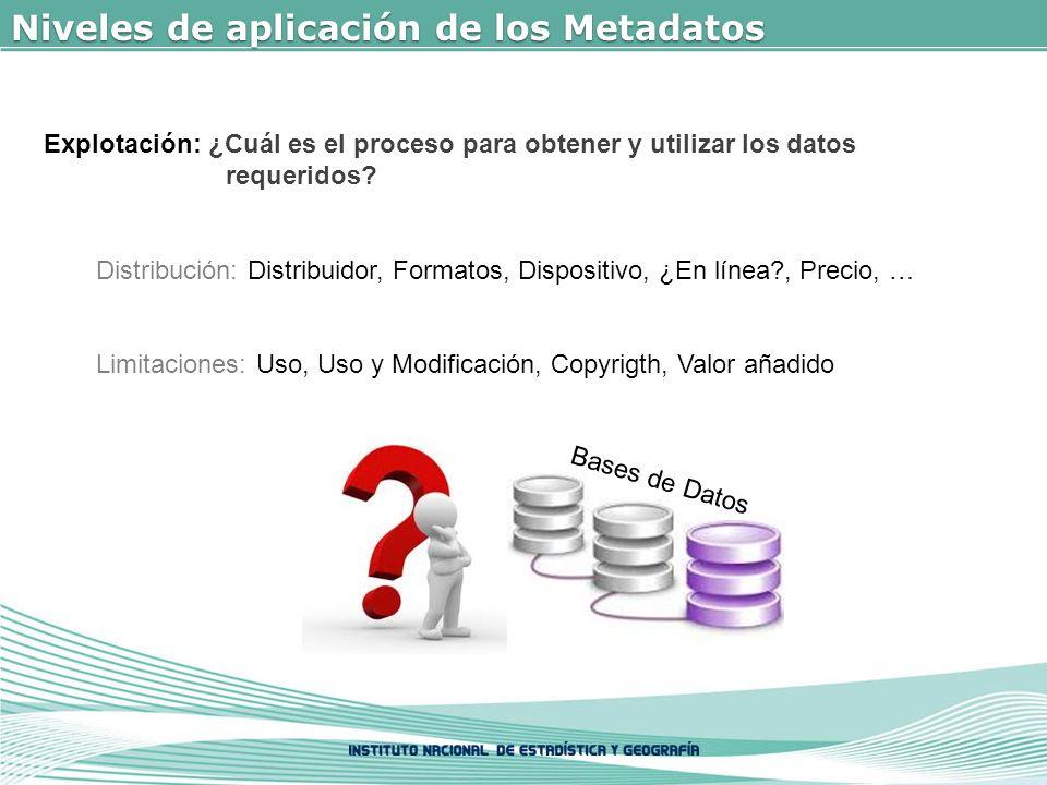 Niveles de aplicación de los Metadatos